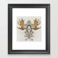 Moose Skull Framed Art Print