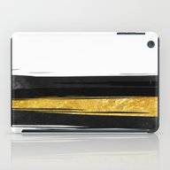 Gold And Black Stripes iPad Case