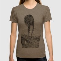 All That Is Left Is The Trace Of A Memory Womens Fitted Tee Tri-Coffee SMALL