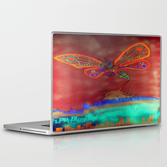 Bad Ash Mothra Funker Full (Wobblesauce) Laptop & iPad Skin