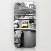 iPhone & iPod Case featuring Yellow Traveler by sparkofinspiration