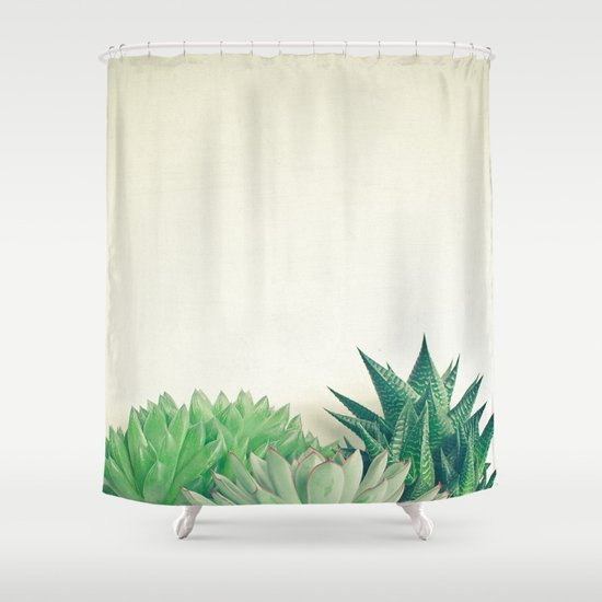 Succulent Forest Shower Curtain By Cassia Beck Society6