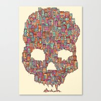 OldSkull City Canvas Print