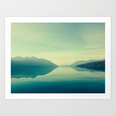 Montana: Lake MacDonald … Art Print