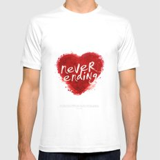 never ending love Mens Fitted Tee White SMALL