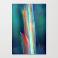 Abstract Gladiolus #1 Canvas Print