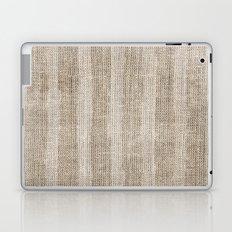 Striped burlap (Hessian series 3 of 3) Laptop & iPad Skin