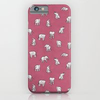 iPhone & iPod Case featuring Indian Baby Elephants in Pink by Estelle F