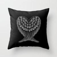 Heart Wings [Reversed Ve… Throw Pillow