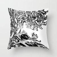 Surfing on Childhood Throw Pillow