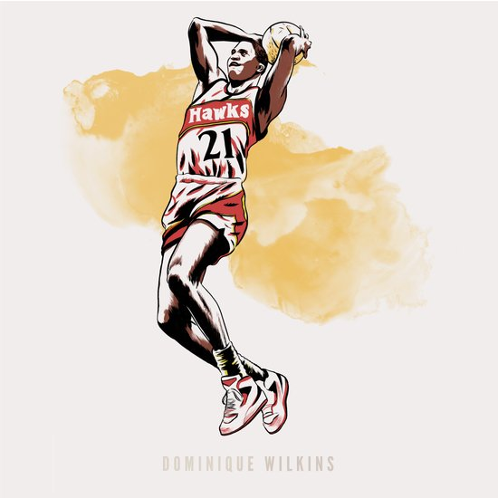 Dominique Wilkins Art Print