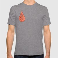 The Happy Joy Mens Fitted Tee Tri-Grey SMALL