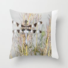 dragonfly tank Throw Pillow