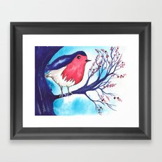 Little Fat Robin Framed Art Print