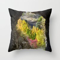 Autumn Cave Throw Pillow