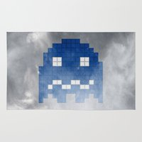 Pac-Man Blue Ghost Rug