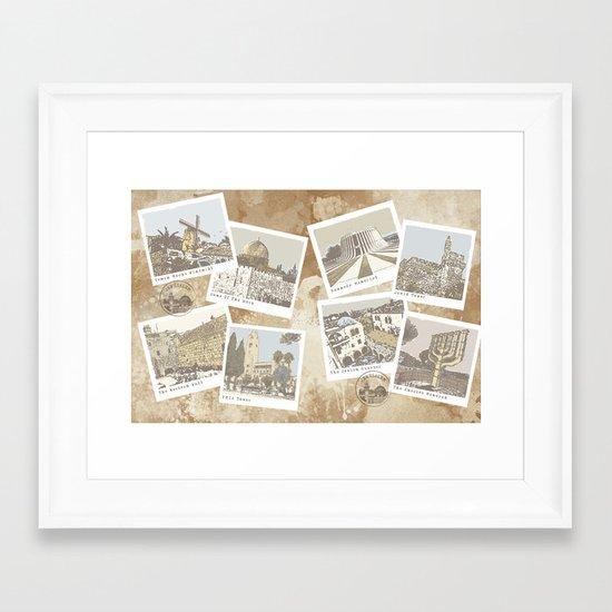 vintage jerusalem Framed Art Print