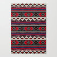Navajo blanket pattern- red Canvas Print