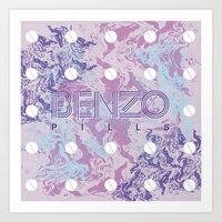 Benzo Pills Art Print
