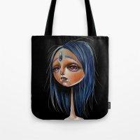 Miss Lapis Lazuli Study Tote Bag
