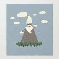 Playing With Cloud Suds Canvas Print