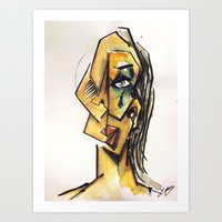Crying Woman Art Print