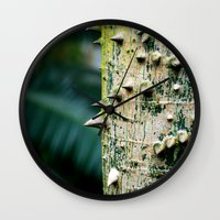 Thorny Tree Botanical Ph… Wall Clock
