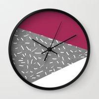 Concrete & Lines Wall Clock