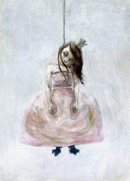 sad princess Art Print