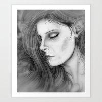 Dreamer in the Ivy Art Print