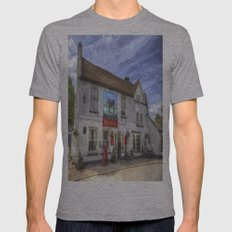 The Bull Pub Theydon Bois Oil Mens Fitted Tee Athletic Grey SMALL