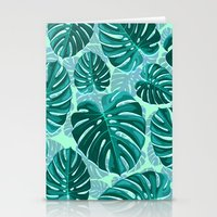 Tropical Leaf Monstera Pattern  Stationery Cards