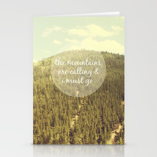 The Mountains are Calling Stationery Card