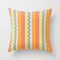 Pattern Series 094 Triba… Throw Pillow