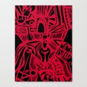 INK#6 Red Mask Canvas Print