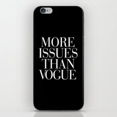 More Issues than Vogue Typography iPhone & iPod Skin