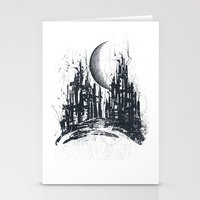 Dystopia city Stationery Cards