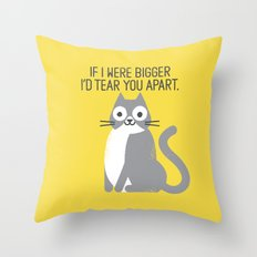 Purrfectly Honest Throw Pillow