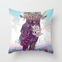 Journeying Spirit (Owl) Throw Pillow