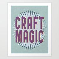 Craft Magic // Berry Art Print