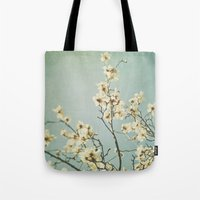 Magnolia Blossoms. Mint Tote Bag