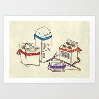 Teenage Mutant Ninja Kitchen Appliances Art Print