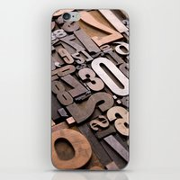 Numbers - Typography Pho… iPhone & iPod Skin