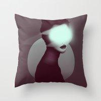Bastet/Cat Goddess (Color Variant Version) Throw Pillow