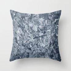 Abstract black painting Throw Pillow