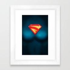 SUPERGIRL SUIT Framed Art Print