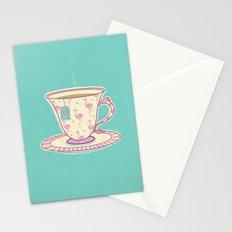 Flamingo tea Stationery Cards