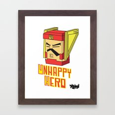 unhappy hero Framed Art Print