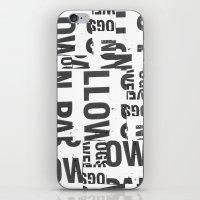 TYPE COLLAGE iPhone & iPod Skin