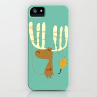 iPhone 5s & iPhone 5 Cases featuring A moose ing by Budi Kwan
